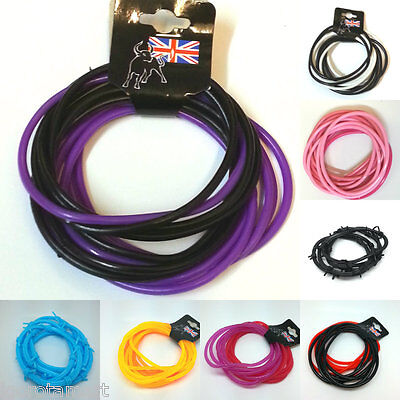New Mixed Gummy Jelly Rubber Bangles Shag Bands Bracelets Wristbands