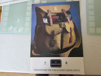 vintage hardy alnwick test fly fishing bag poster advert promotional 1