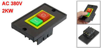 sourcingmap QCS1 AC 380V 2KW Red Green I/O Start Stop Push Button Switch