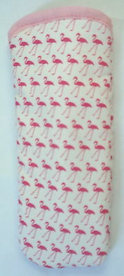 BNi  PINK FLAMINGOS ALL OVER-GLASSES CASE -   ideal small gift
