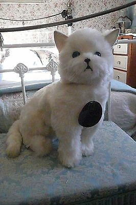 Large Real Soft Toys White Cat with original tag & label