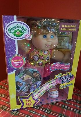Cabbage Patch Kids DOLL Twinkle Toes By Sketchers Red Head/Blue Eyes w/Bonus DVD