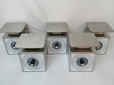 Lot Of 5 Edlund Food Portion Scales 32 Oz Model SR-2 Stainless Steel USA