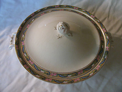 Vintage Old Rare Johnson Bros England Round Covered Dish with Handles EUC