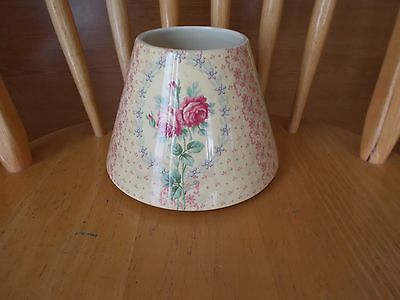 Yankee Candle Jar Shade Topper Roses Pink Yellow Shabby Chic~~ Flowers Floral
