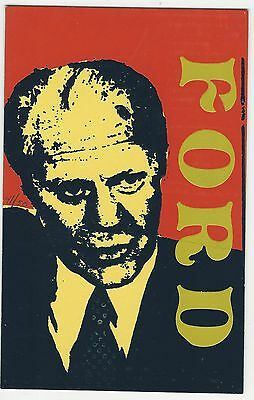1976 Gerald Ford Presidential Campaign Postcard Unusual Art Style 41 of 50 Made