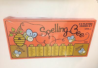 Spelling Bee 2-4 Players Grades 4-7 Level 2 Educational Game Board Toy 1990 #m26