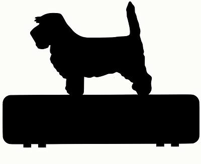 PETIT BASSET GRIFFON VENDEEN  mailbox topper 11 inch PAINTED and NO NUMBERS