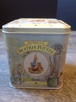 Tin with Hinged Lid The World of Beatrix Potter Border Fine Arts Tea Or Nursery