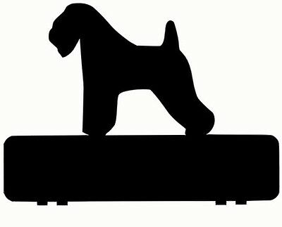 WHEATEN TERRIER DOG mailbox topper 11 inch PAINTED and NO NUMBERS OR LETTERS
