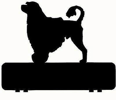 Portuguese Water Dog mailbox topper 11 inch PAINTED & NO NUMBERS OR LETTERS