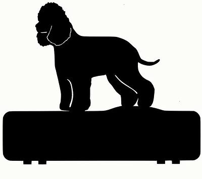 IRISH WATER SPANIEL mailbox topper 11 inch PAINTED & NO NUMBERS OR LETTERS