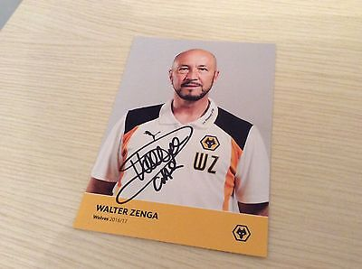 "Walter Zenga Wolverhampton Wolves hand signed official photo card 6"" x 4"""