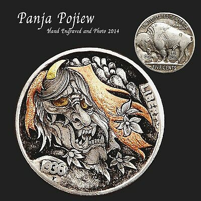 Original Coin, The Very First Engraved Hobo Nickel Coin By Panja  Pojiew