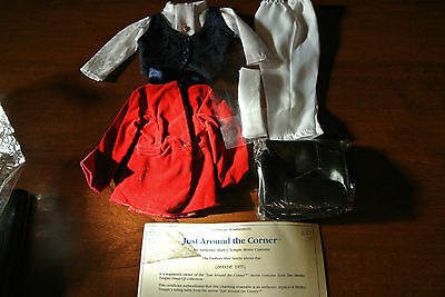 """Shirley Temple 16"""" Doll Outfit Clothes Danbury Mint Just Around the Corner"""