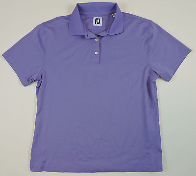 FOOTJOY Women's Purple Short Sleeve Gold Shirt Large