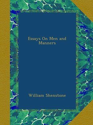 Essays On Men and Manners Copertina flessibile
