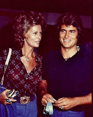 MICHAEL LANDON color candid with wife Hollywood Celebrity photo (47bh)