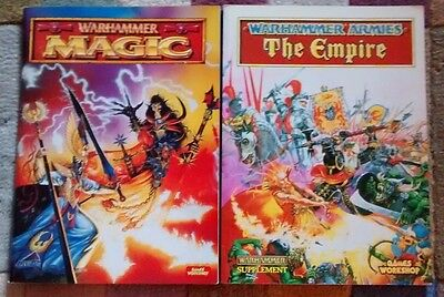 Lot of 2 books - Warhammer Magic and Warhammer Armies: The Empire