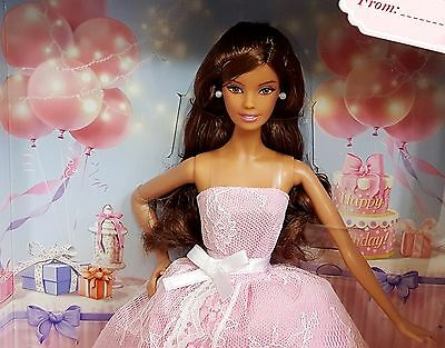 BARBIE COLLECTOR 2015 BIRTHDAY WISHES HISPANIC DOLL - Pink Label Mattel 6+ Years