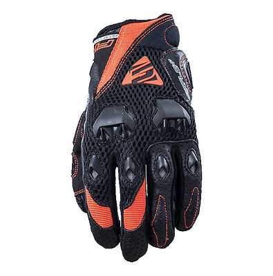 Five Evo Stunt Motorcycle Airflow Gloves Black / Orange Vented