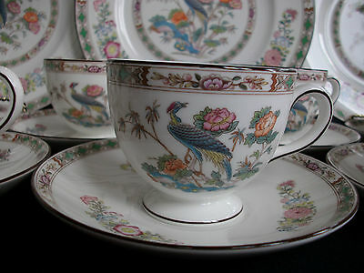 WEDGWOOD KUTANI CRANE (c.1971-1998) CUP AND SAUCER (s)-LEIGH SHAPE! EXCELLENT!