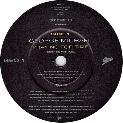 George Michael Praying For Time Vinyl Single 7inch Epic