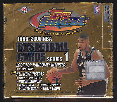 1999 99-00 Topps Finest Series 1 Nba Hobby Sealed Box! Gold Rookie Rc Refractors