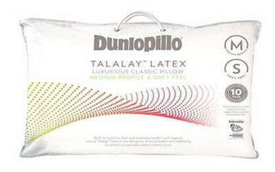 Dunlopillo Talalay Latex Luxurious Medium Profile & Soft Feel Pillow RRP $129.90