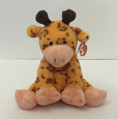 2004 Ty Pluffies Towers Giraffe Plush Toy Baby Lovey W/ Tag 8""