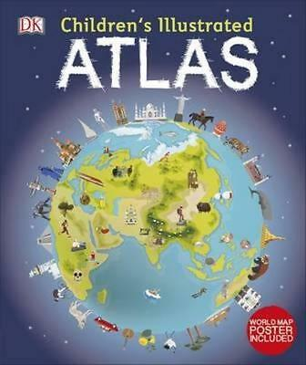 NEW Children's Illustrated Atlas By Dorling Kindersley Hardcover Free Shipping