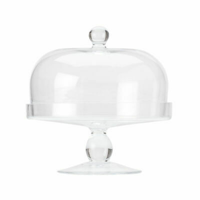 Glass Cake Stand with Dome Lid, 20cm, Maxwell & Williams 'Diamante' Cafe Display