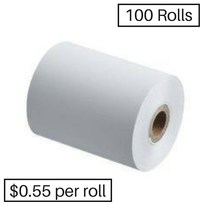 100 57x37mm Thermal Rolls ANY EFTPOS, Receipt Rolls ($0.51 cents per roll)