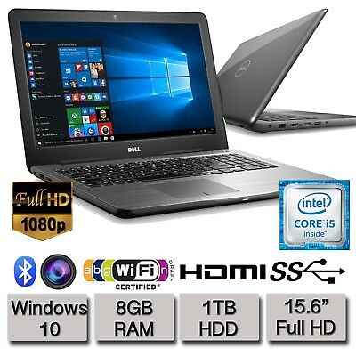 "Dell Inspiron 15 5567 15.6"" Full HD Laptop Core i5 8GB RAM 1TB HDD 2017 Model UK"