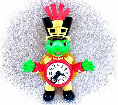 Vintage Franklin The Turtle Clock Learning Tool Educational Tell Time 90s RARE