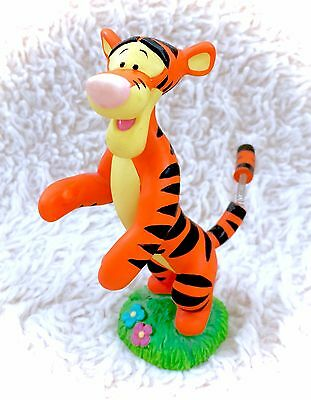 Winnie The Pooh Tigger Bobble Tail Wagging Figurine Bouncy A.A Milne Disney RARE