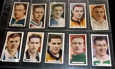 10 Ardath Cigarette Cards  Famous Footballers