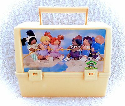 Vintage Cabbage Patch Thermos Plastic Lunch Box Pail Canadian RARE 80s Original