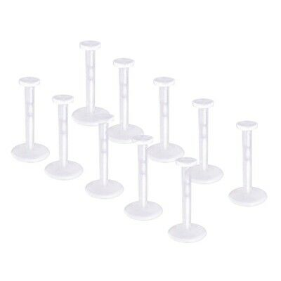 Pack of 10 Clear Bio Flexible Push Fit Lip Labret Retainers 16G (1.2mm x 8mm)