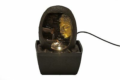Buddha Face Indoor Fountain By ZENINFLUX- Polyresin Tabletop Water Fountain W...