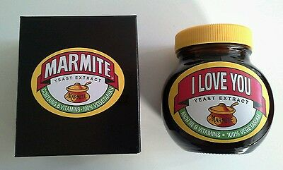 Specially Labelled Marmite 'I LOVE YOU' 250g - New and Boxed