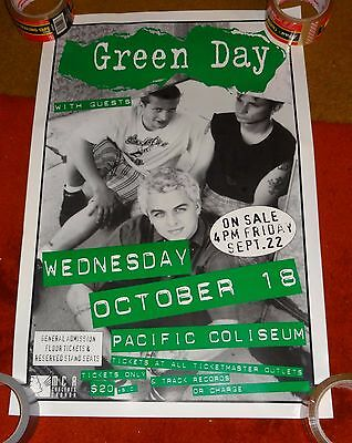 concert poster GREEN DAY october 18 1995 vancouver canada 16x25