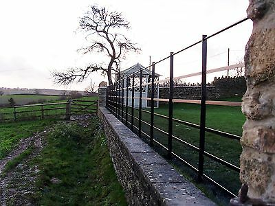 Parkland Fencing, 1m high Steel, Park Fencing, Metal railings, Wrought Iron,