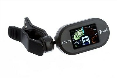 Fender FCT-12 Chromatic Clip On Tuner, attaches to all string, wind and brass