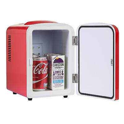 iceQ 4 Litre Portable Small Mini Fridge For Bedroom, Mini Cooler, Warmer In Red