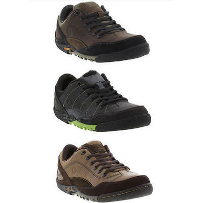 Merrell Sector Pike Intercept Mens Brown Leather Walking Shoes Size 6.5 - 14