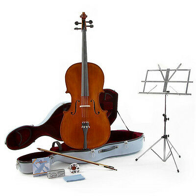 New Archer Full Size 4/4 Cello with Accessory Pack by Gear4music