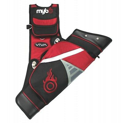 Mybo Viva Target Archery Quiver - Right Handed - Red