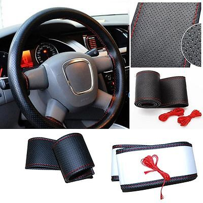 Truck Drive PU Leather Needles And Thread Steering Wheel Cover Car