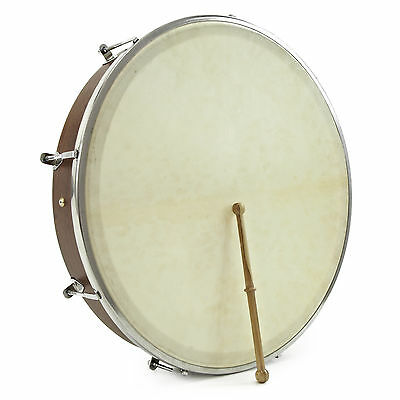 "New 18"" Tuneable Bodhran with Bag & Beater by Gear4music"